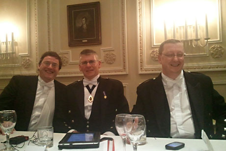 Members of the Top Table at Hamilton Burns Club