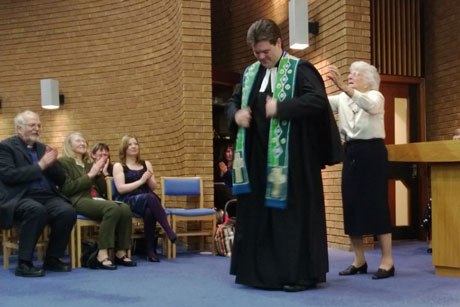 Jonathan presented with robes