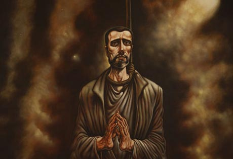 St John Ogilvie by Peter Howson (cropped)